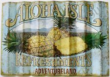 Disney Parks ALOHA ISLE Adventureland Refreshments Replica Prop Sign Wall Plaque