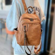 Women PU Leather Backpack Fashion Designer Vintage Shoulder School Bag Rucksack