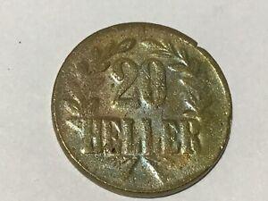 20 Heller Deutsch Ostafrika 1916 T J.725b #224#