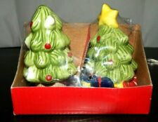 Salt & Pepper Shaker set Christmas Trees NIB FACTORY SEALED Garden Ridge