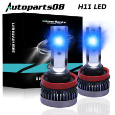2x 8000K Ice Blue H8 H11 H9 110W LED Fog Light Headlight Bulb For Replacement