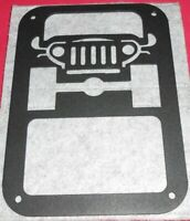 Jeep Front Metal Wall Art Hanging Home Decor Man Cave 6X8 Inch.