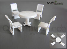 5 Set Model Table with 4 Chair for diecast 1:50, railway O gauge