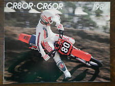 84 HONDA CR80R CR60R NOS OEM DEALER'S SALES SHEET BROCHURE CR60 CR80 CR 60 80 R