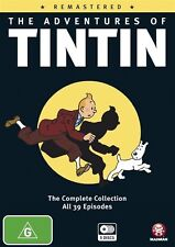 The Adventures of Tintin Remastered NEW R4 DVD