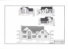 Full Set of two story 4 bedroom house plans 3,131 sq ft