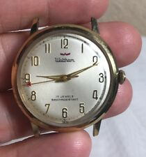 Vintage Waltham 17 Jewels Manual Wind Mens Watch Swiss, Working