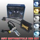 55W Bi Xenon HID Kit Slim Ballast Motorcycle H4 Headlight Motorbike Hi/Lo Bulb