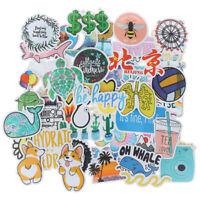 50Pcs Cartoon Waterproof Sticker to DIY Laptop Bicycle Helmet Car Decals