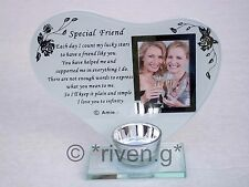 SPECIAL FRIEND@CANDLE Holder@PICTURE Keepsake@BEST FRIENDSHIP GIFT@PHOTOGRAPH