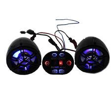 Waterproof Bluetooth Motorcycle Handlebar Audio Stereo Speaker System Kit MP3 FM