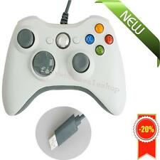 Wired USB Gamepad Controller Joystick Joypad Resembles XBox360 for PC White Gift