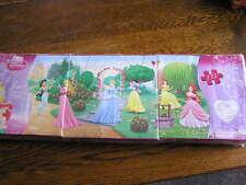 "Disney Princess 3~in~1 Panoramic Puzzle w/ 24~48~63 Pieces Total 30.75""x15""~NIP!"