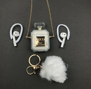 Luxury Perfume Bottle Silicone Case Cover Earphone Protective Apple Airpods 1&2