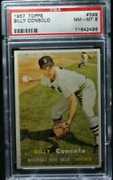 1957 Topps - Billy Consolo - #399 - PSA 8 - NM-MT