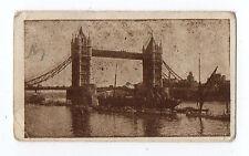 Rare Original UK Trade Card Edmondson Art Picture Series Tower Bridge London