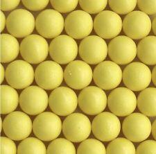 500 Nuovo Giallo .43 Cal Riutilizzabile Gomma Allenamento Palline Paintball