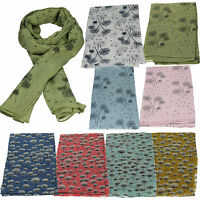 Ladies Womens Dandelion Flower Floral Print Dandelions Fashion Scarf Wrap Shawl