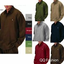 Men's 2pc Walking Suit Long Sleeve Casual Shirt & Pants Set #2612