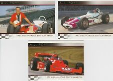3 Different A.J. Foyt Indianapolis 500 Cards- $24 Book Value