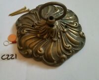 CEILING ROSE 175mm chandelier hook cast brass French ROCOCO Ornate OLD antique