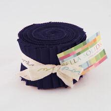 Moda Fabric Junior Layer Cake Bella Solids Navy