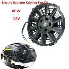 80W Electric Radiator Cooling Fan Kit 7 Inch 12V for Universal Car SUV Push Pull