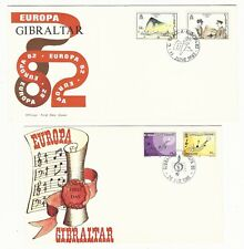 Gibraltar: 4 different first day cover thematic Europa. GI39