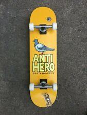 "ANTI HERO SKATEBOARDS - COMPLETE SKATEBOARD PIGEON HERO YELLOW 8.25"" INCH"