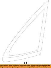 FORD OEM 11-16 Fiesta-Rear Quarter Panel Side Window Glass Right AE8Z5429710A