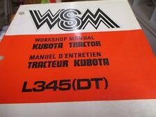 Kubota 345 Dt Tractor Workshop Manual