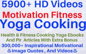 5900 HD videos For motivation, fitness, yoga, cooking extra bonus