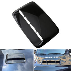 Car Front Air Flow Intake Hood Scoop Bonnet Vent Sticker Cover ABS Glossy Black