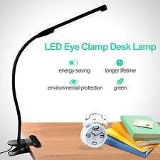 LED Desk Table Lamp USB Dimmable Eye Care Reading Light Flex Clamp Clip on AU