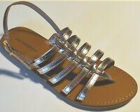 ZOR- LES TROPEZIENNES sandales cuir HERILO or + ( sac de plage offert !! )