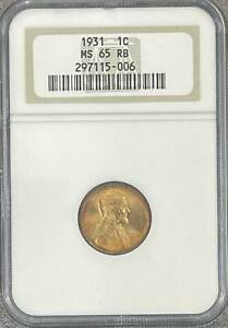 Small Cents Lincoln, Wheat Ears Reverse 1931  Not certified