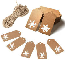 ECO Gift Tags Kraft Paper Card Label Parcel Tags DIY Tags Xmas Hanging Ornament