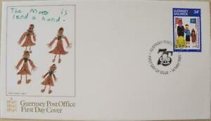 """Guernsey Stamps: """"Girl Guides"""" - First Day Cover 1985"""