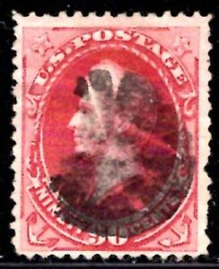 SCOTT # 155 USED  VF (SEE SCAN FOR CENTERING, GREAT CANCEL & COLOR)