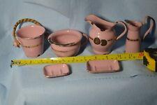 Vintage Enamel Toy Child or Doll Six Piece Chamber Pot Dresser Set