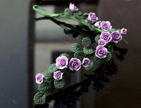 Dollhouse Miniature Clay Purple Plant Flower Bunch Climbing Rose Wattle 1:12 Toy