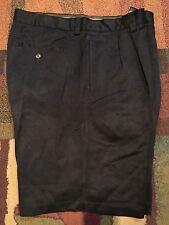 "Men 36, 10"" long Tommy Bahama 100% Silk Men's Pleated Black Shorts GOLF Re $108"