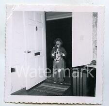 1950s snapshot photo Young Boy in Hobo Halloween costume    #3