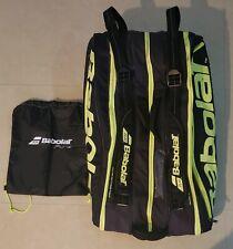 Babolat Pure Black Yellow 12 Pack Tennis Bag Isothermal Lining