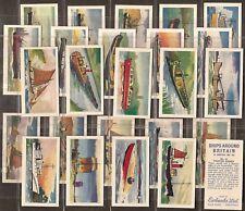 EWBANKS-FULL SET- SHIPS AROUND BRITAIN (25 CARDS) - EXC