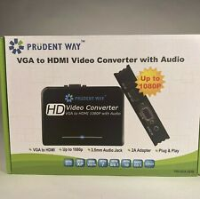Prudent Way HD Video Converter With Audio VGA To HDMI 1080P