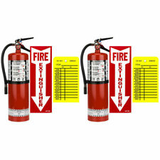 2 10lb Buckeye Abc Fire Extinguisher Withwall Hooks Signs And Inspection Tags