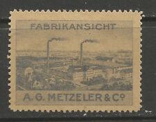 Alemania un sello de publicidad G Metzeler & CO/etiqueta (sitio de fábrica)