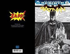 Batman 1 Rebirth Harris Black & White Sketch Variant Zapp! King Finch Dc 2016