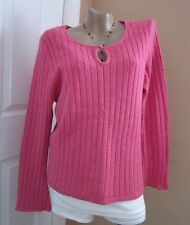 VTG Route 66 Pink Pullover Sweater Sz Large Long Bell Sleeve $45 XLNT